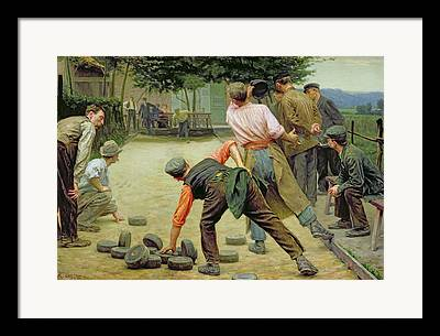 A Game Of Bourles In Flanders Framed Prints