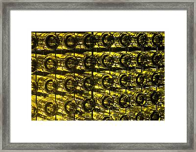 A Garden Wall Made Of Recycled Glass Framed Print by Jason Edwards