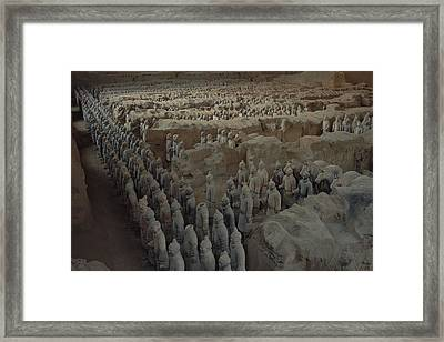 A Garrison Of Some 1,400 Terracotta Framed Print