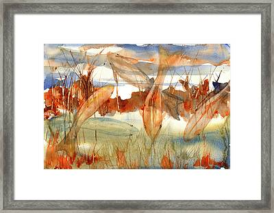 A Gathering Framed Print by Linda Palmer