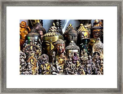 Framed Print featuring the photograph A Gathering Of Buddhas by Edward Myers