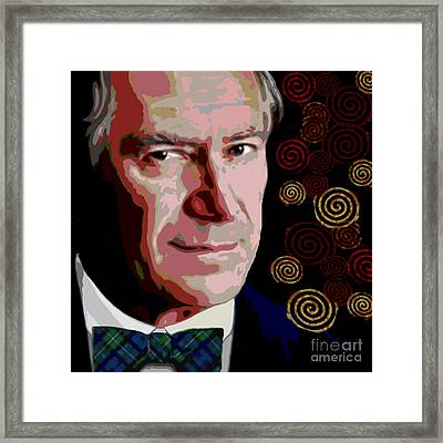 Framed Print featuring the painting A Gentleman by Jann Paxton