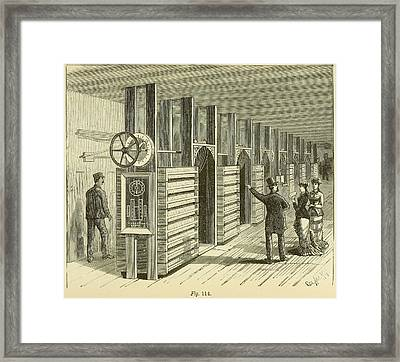 A Gentleman Points To The Regulating Framed Print by Everett