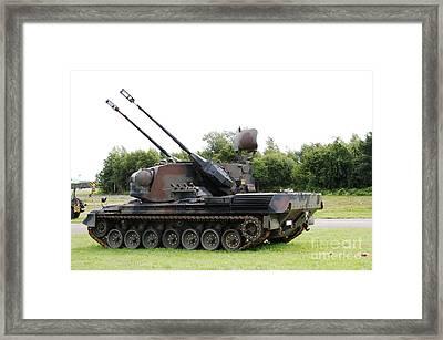 A Gepard Anti-aircraft Tank Framed Print by Luc De Jaeger