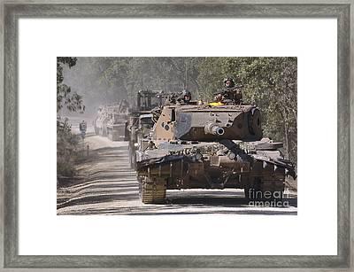 A German Designed Leopard As1 Gun Tank Framed Print by Stocktrek Images
