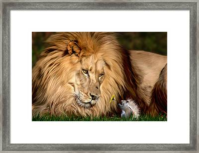 A Gift For Cameron Framed Print by Big Cat Rescue
