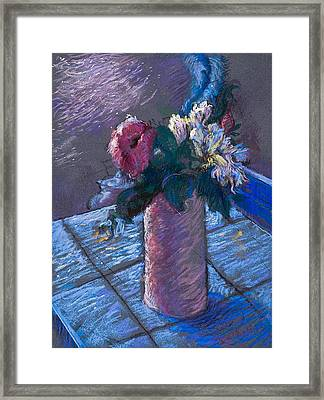A Gift Of Peonies Framed Print by Ellen Dreibelbis