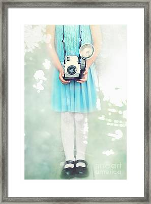 A Girl And Her Camera Framed Print by Stephanie Frey