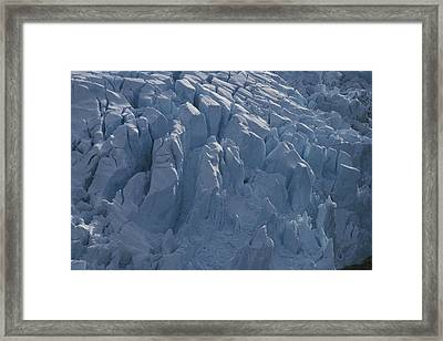 A Glacier Icefall From The Cordillera Framed Print by Gordon Wiltsie