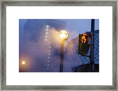 A Globe-shaped Fixture In Torontos Framed Print by Jim Richardson