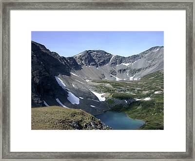 A Goat's Eye View Framed Print