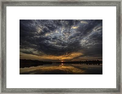 A Golden Sky Framed Print