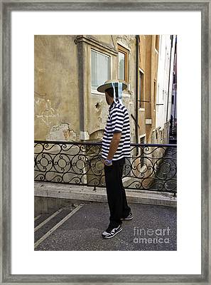 A Gondolier In Venice Framed Print