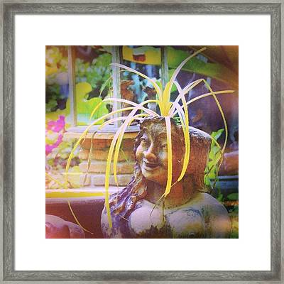 A Good Hair Day #thailand #smile #travel Framed Print