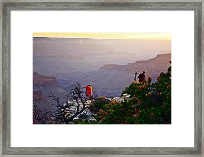 A Grand Meeting Place Framed Print