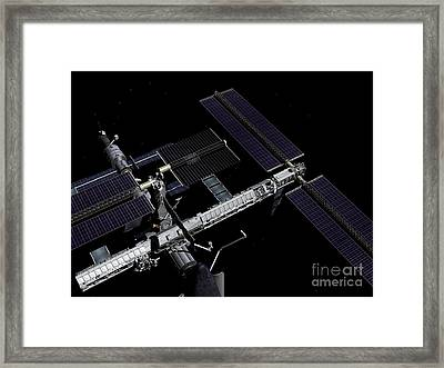 A Graphic Rendering Framed Print by Stocktrek Images