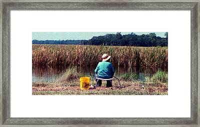 A Great Day Fishing Framed Print by Patricia Greer
