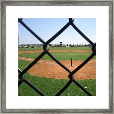 A Great Day For Tball #sports #diamond Framed Print by Kel Hill