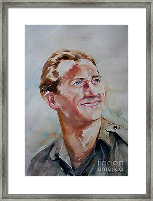 Framed Print featuring the painting A Great Man by Barbara McMahon