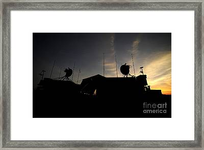 A Ground Control Station Which Operates Framed Print by Stocktrek Images