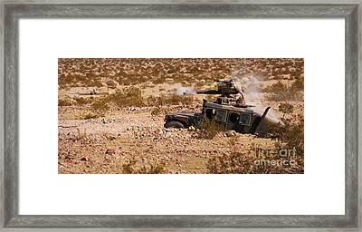 A Gunner Firing A Bgm-71 Tow Missile Framed Print by Stocktrek Images