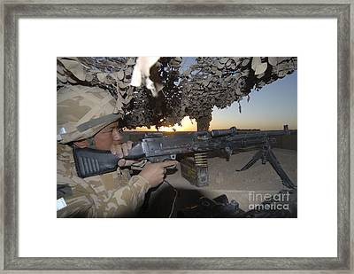 A Gurkha Of The British Army Provides Framed Print