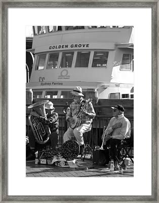 A Harbor Concert Framed Print by Tia Anderson-Esguerra