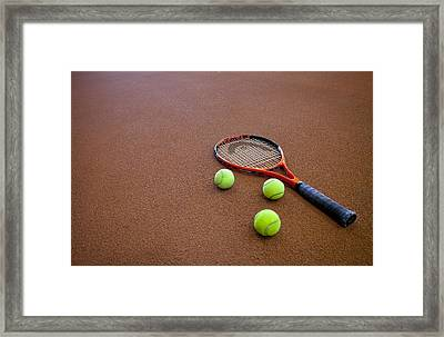 A Hard Court Tennis Court Framed Print