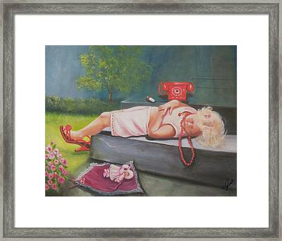 A Hard Day Of Play Framed Print