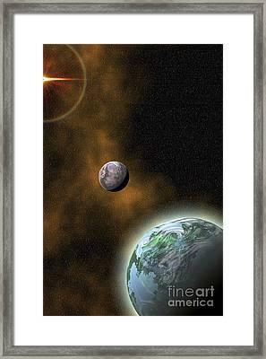 A Hazy Ring Encircles This Sun Far Framed Print by Corey Ford
