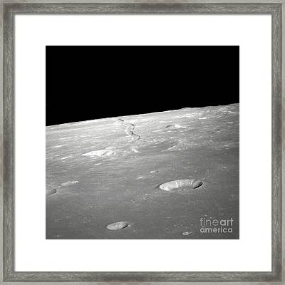 A High Forward Oblique View Of Rima Framed Print by Stocktrek Images
