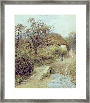A Hill Farm Symondsbury Dorset Framed Print by Helen Allingham