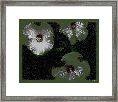 A Hint Of Hibiscus Framed Print by Rene Crystal