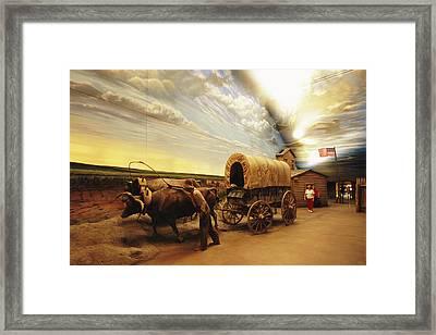 A Historical Display At The Great Framed Print by Joel Sartore