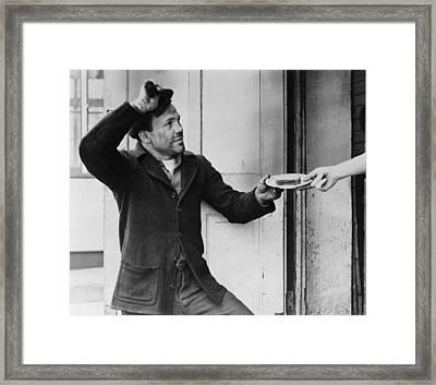 A Hobo, Lou Ambers, Tips His Hat Framed Print