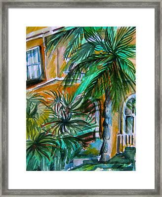 A Hotel In Sorrento Italy Framed Print by Mindy Newman
