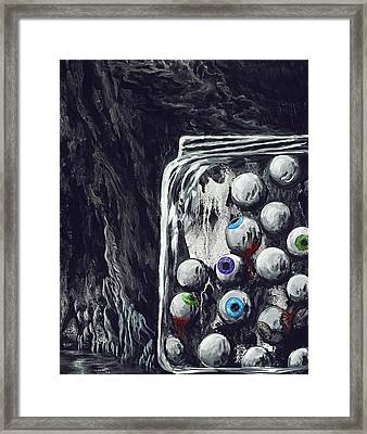 A Jar Of Eyeballs Framed Print by David Junod