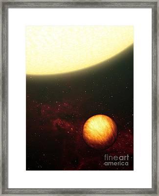 A Jupiter-like Planet Soaking Framed Print by Stocktrek Images