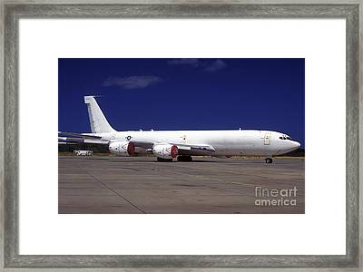A Kc-135 Stratotanker At Hickham Air Framed Print