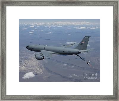 A Kc-135r Stratotanker Over Central Framed Print