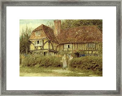 A Kentish Cottage Framed Print by Helen Allingham