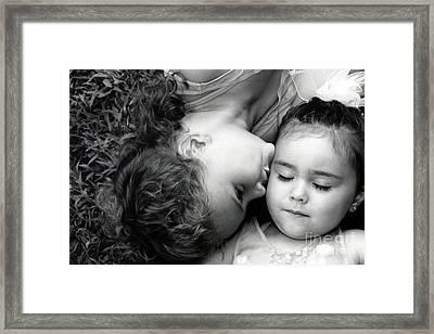 A Kiss For O Framed Print