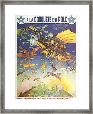 A La Conquete Du Pole Framed Print by Georgia Fowler