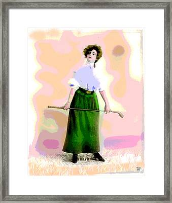 Framed Print featuring the mixed media A Ladies Game by Charles Shoup