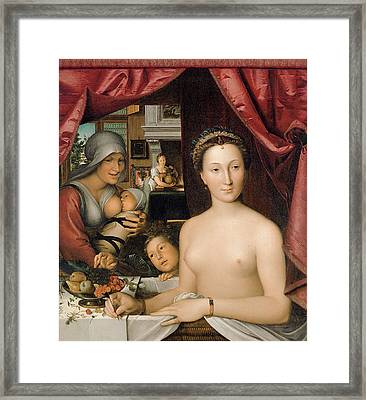A Lady In Her Bath Framed Print by Francois Clouet