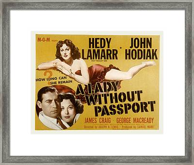 A Lady Without Passport, John Hodiak Framed Print
