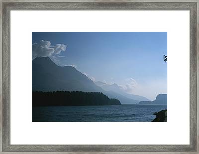 A Lake In The Engadin Valley Framed Print by Taylor S. Kennedy