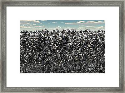 A Large Gathering Of Robots Framed Print by Mark Stevenson