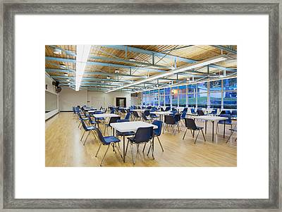 A Large Hall In A Community Centre Framed Print by Marlene Ford