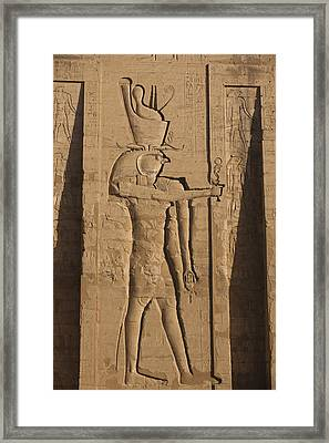 A Large Relief Of The God Horus Framed Print by Taylor S. Kennedy